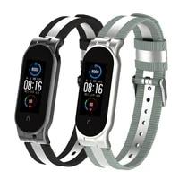 nylon watch strap for mi band 5 for xiaomi mi band 6 bracelet watch band for mi band 4 strap breathable bracelet men women strap