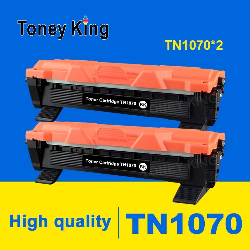 Toney rey 2 uds TN1070 cartucho de tóner Compatible para hermano HL-1110 1112 DCP-1510 1512R MFC-1810 impresora 1815
