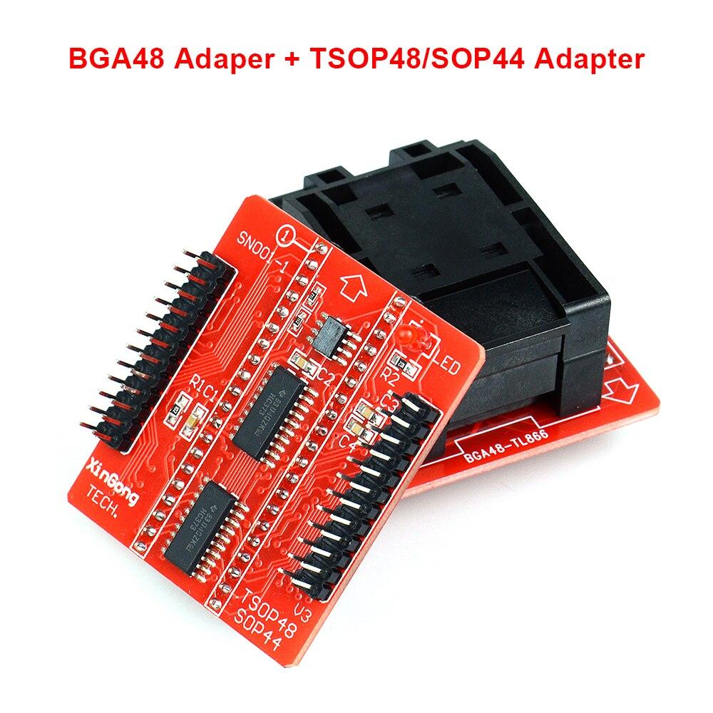 Bga48 adaptador para tl866ii tl866cs tl866a universal programador com adaptador tsop48 transporte rápido