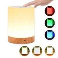usb rechargeable touching control bedside light dimmable table lamp warm white rgb night light for living room bedrooms office