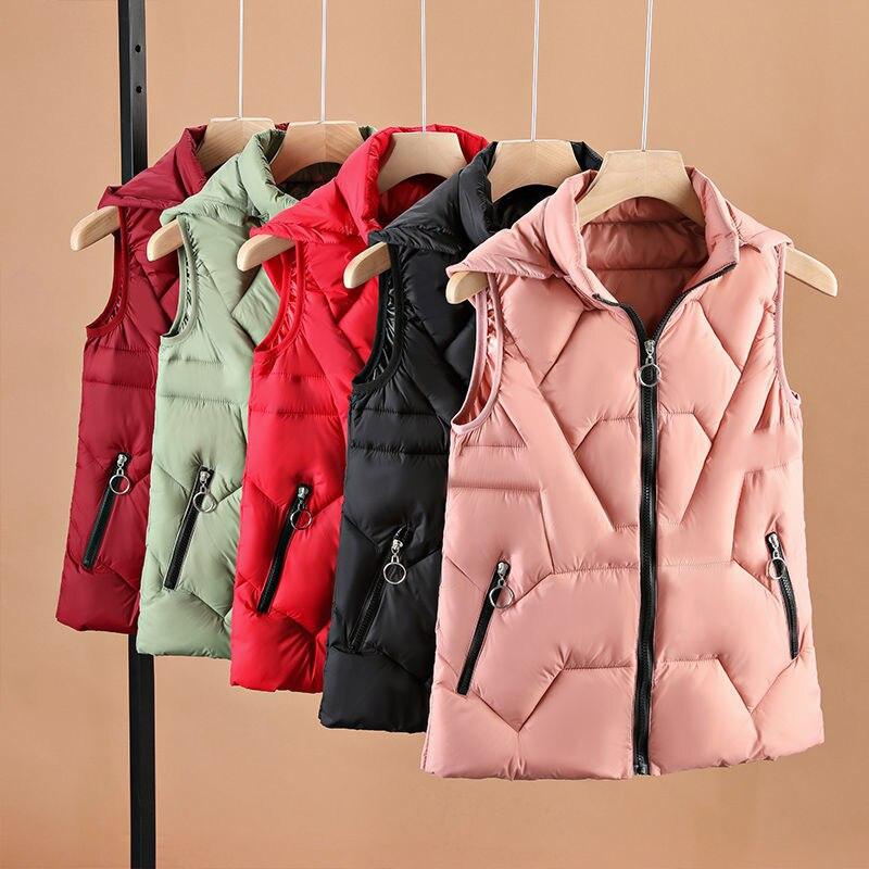 Дешевая оптовая продажа 2021 Весна Осень Зима Новая Женская мода Повседневная Милая теплая Женская жилетка верхняя одежда BVy189