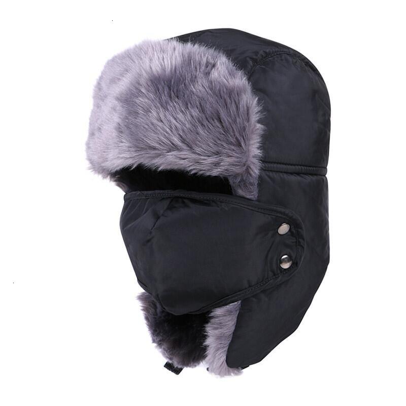 2019 new Balaclava Earflap Bomber Hats Caps Scarf Men Women Russian Trapper Hat Trooper Earflap Snow
