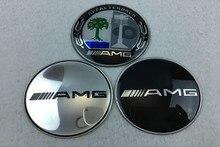 4 pièces 65mm voiture pneu roue moyeu capuchon central autocollant voiture emblème couverture pour Mercedes benz AMG w204 w203 w212 w211 w124 accessoires de voiture