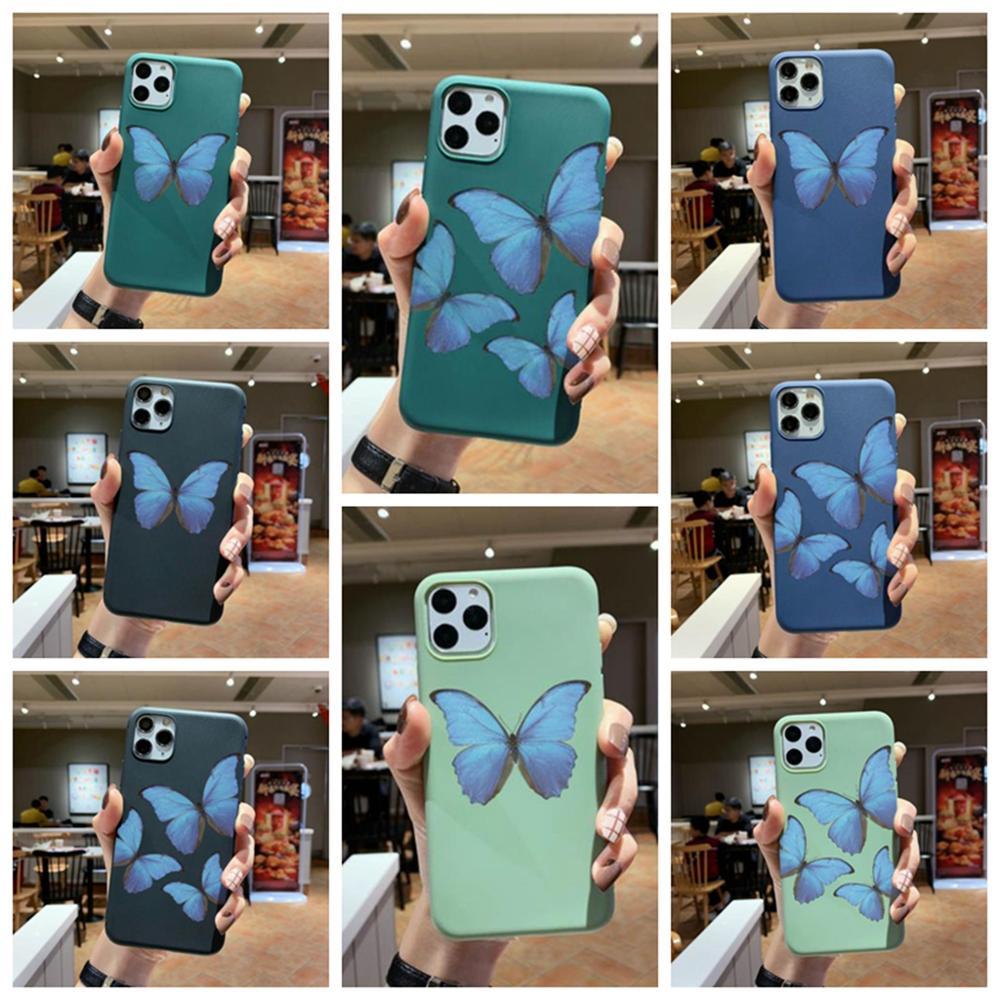 Unique design romantic dark series butterfly Case For iPhone 6 6s 7 8 Plus x xs xr max 11pro max se2 Silicone Soft TPU A6