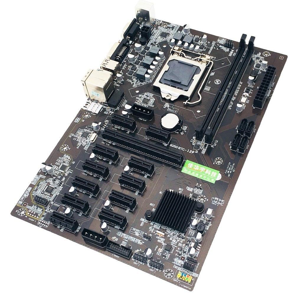 New B250 mining motherboard 12 GPU Bitcoin Crypto Etherum Mining JW B250P B250-BTC PRO DDR4 LGA 1151 Motherboard