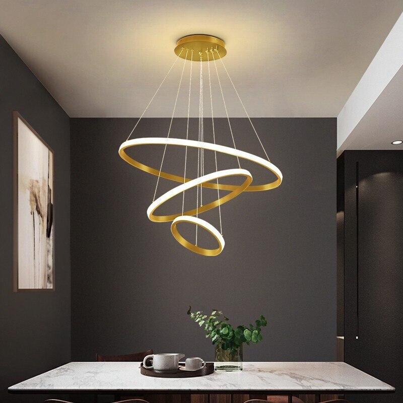 أضواء السقف الحديثة ل 20 سنتيمتر 40 سنتيمتر 60 سنتيمتر غرفة المعيشة غرفة الطعام دائرة خواتم الاكريليك الألومنيوم الجسم LED تركيبات مصباح السقف