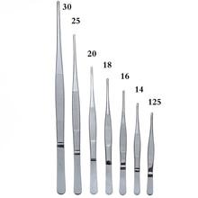 สแตนเลส430 Anti-ไอโอดีนแหนบทางการแพทย์ยาวตรง Forceps 12.5ซม.-30ซม.ตรงข้อศอกหัว Thicken เครื่องมือทางการแพทย์