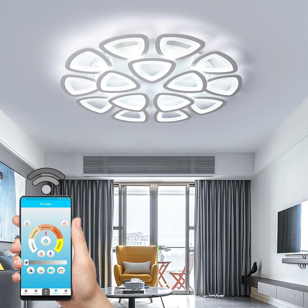 Nueva lámpara de araña led para sala de estar, dormitorio, hogar, lámpara de araña de techo Led moderna para sala de estar