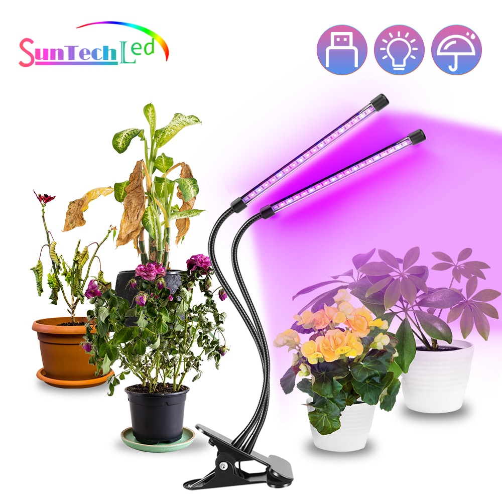 Suntech ,LED Grow Light,USB Full Spectrum Phytolamp Fitolampy With Control For Plants Seedlings Flower Indoor Grow light