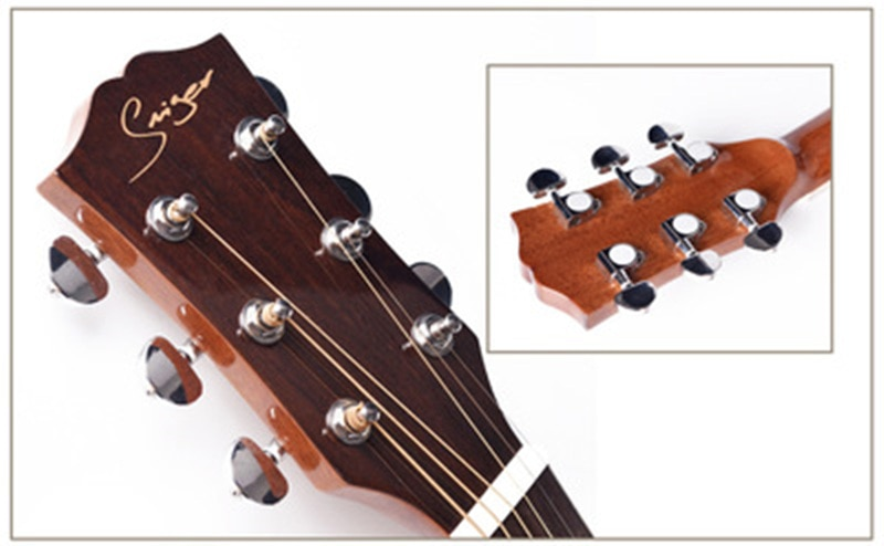 40/41inch High Quality Guitar 6 String Top Spruce Solid Wood Guitar High gloss Solid Top GuitarAGT148 enlarge