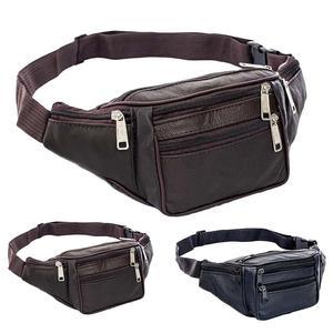 Забавные водонепроницаемые поясные сумки для мужчин, модная мужская сумочка на молнии с несколькими карманами из искусственной кожи, забав...