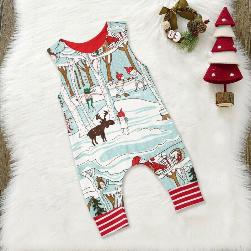 Traje de mono de Navidad de renos para recién nacidos y niños