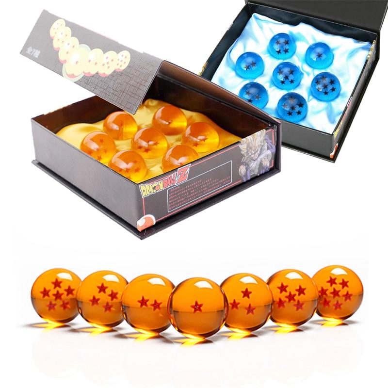 لعبة دراغون بول 7 نجوم كريستال الكرة كل حجم 3.5-7.6 سنتيمتر الراتنج المجال نموذج عيد الميلاد طفل الأطفال الحاضر هدية مزخرفة اكسسوارات