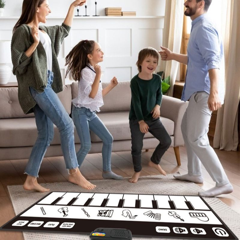 Indoor waterproof Music blanket Non-slip Electronic Piano Music Mat Dancing Mats Pads Kids Musical Toys for Family Entertainment enlarge