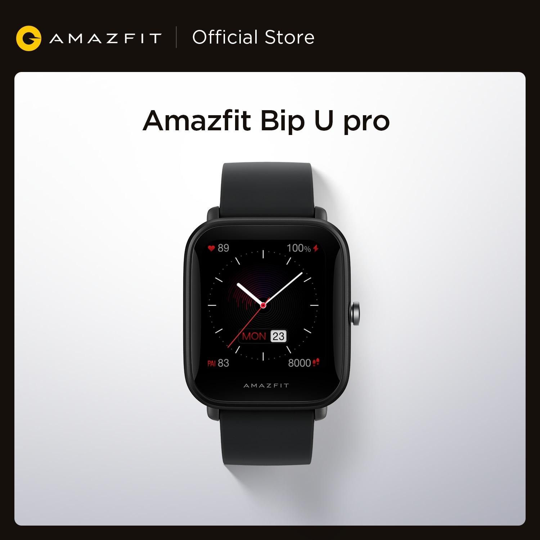 смарт-часы amazfit bip u pro, gps, цветной экран, 31 гб, 5 атм, водостойкие, 60 +, спортивный режим