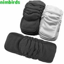 Węgiel bambusowy wielokrotnego użytku wkładka do pieluszka dla niemowląt mata bambusowe bawełniane wkładki do pieluszek zmieniające wkładki węglowe hurtowo