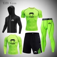 mens sportswear suit new sports tight fitting suit gym fitness jogging training sports suit quick drying running sportswear