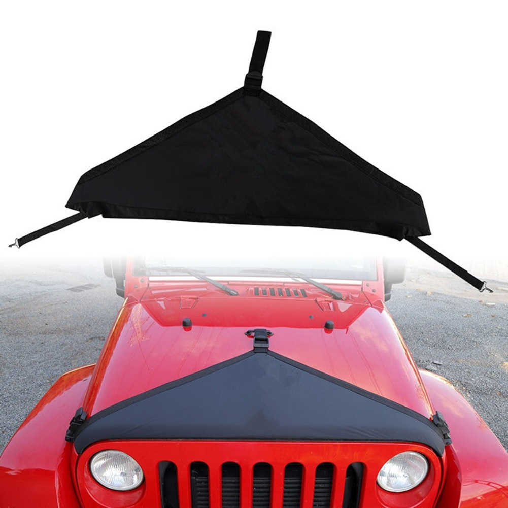 1Pcs Car Canvas Engine Hood For Jeep Wrangler TJ 1997-2006Engine Exterior Cover Protector Car Appearance Protection Accessories