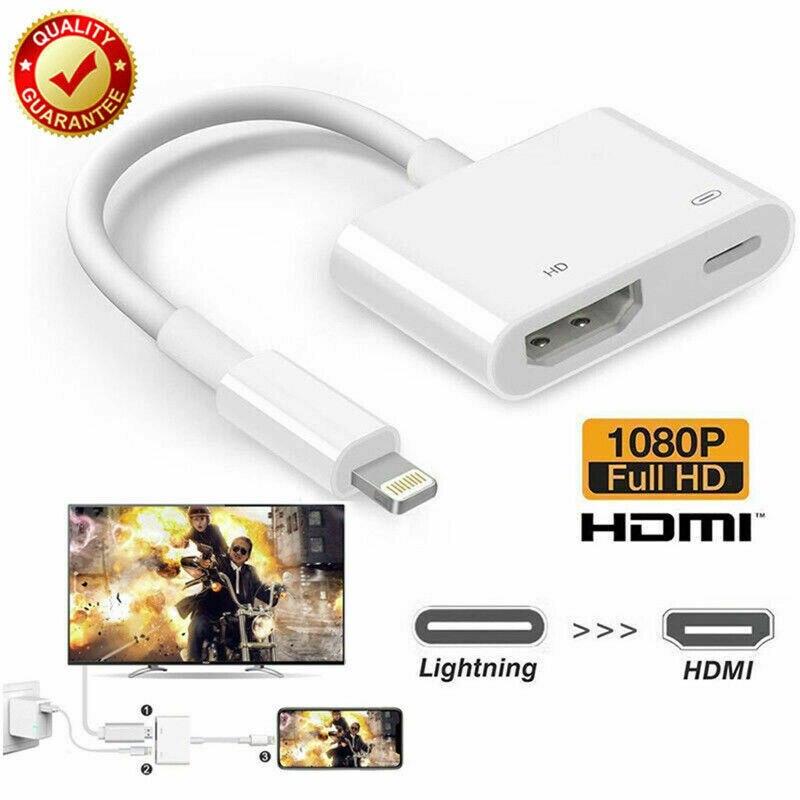 Convertidor 3 en 1 8 pines a HDMI para Iphone a HDMI AV Adaptador convertidor para IPhone XR 11 para IPad adaptador de Audio y Video