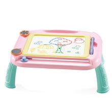 Crianças placa de desenho magnético com suporte placa de pintura de graffiti brinquedos educativos esboço almofada doodle desenhos animados pintura com caneta