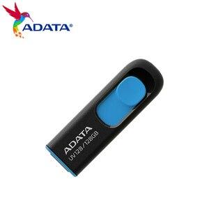 USB-флеш-накопитель ADATA UV128 объемом 128 ГБ, 64 ГБ, 32 ГБ, 16 ГБ, USB 3,2, выдвижной флеш-накопитель, высокоскоростной флеш-накопитель
