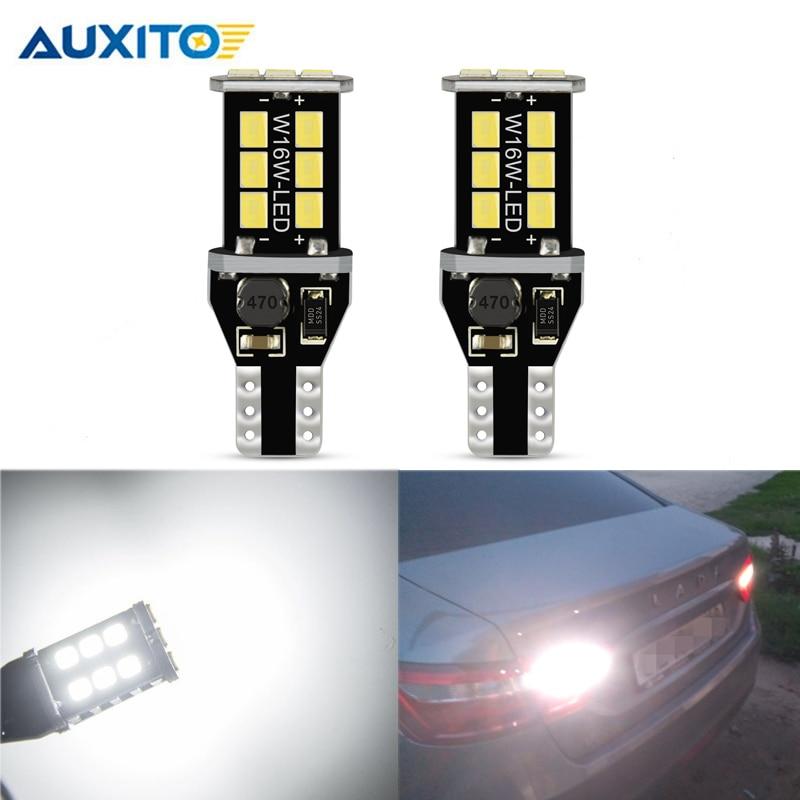2PCS W16W LED T15 CANBUS רכב גיבוי אורות ריזרב אין שגיאת OBC זנב מנורת לlada Granta ניבה priora קלה Xray סטה