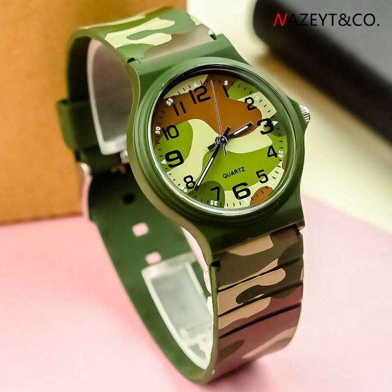 Nuevo reloj de pulsera de silicona impermeable unisex de alta calidad para Estudiantes del Ejército de camuflaje para deportes al aire libre