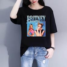Britney Spears Beautiful Photo Men's Black Women T Shirt Men Aesthetic Cute T-Shirt Casual Harajuku Tshirt Funny Ulzzang