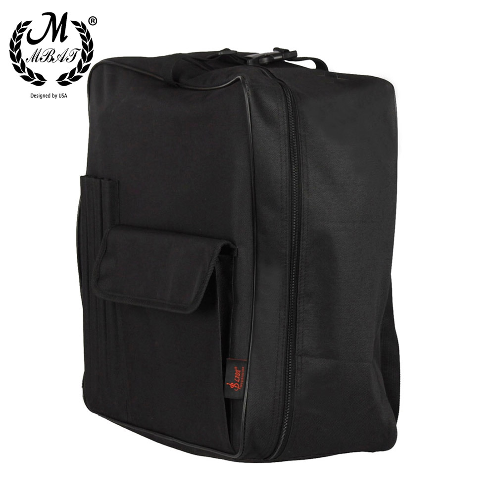 M MBAT 14 Inch Snare Drum Bag Backpack Case Adjustable Shoulder Strap Outside Pockets Percussion Instrument Parts & Accessories