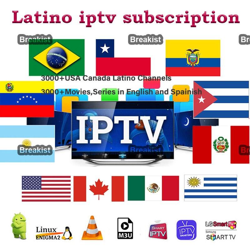 IPTV Latino Subscription M3U USA IPTV Cinema Peru Chile Mexico Paraguay Panama For Android Smart TV 6000 IPTVSpanish channel VOD