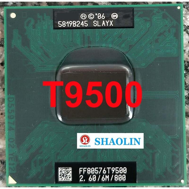 T9500 SLAQH SLAYX 2.6 جيجا هرتز ثنائي النواة المزدوج الموضوع معالج وحدة المعالجة المركزية 6 متر 35 واط المقبس P الأصلي شاولين النسخة الرسمية