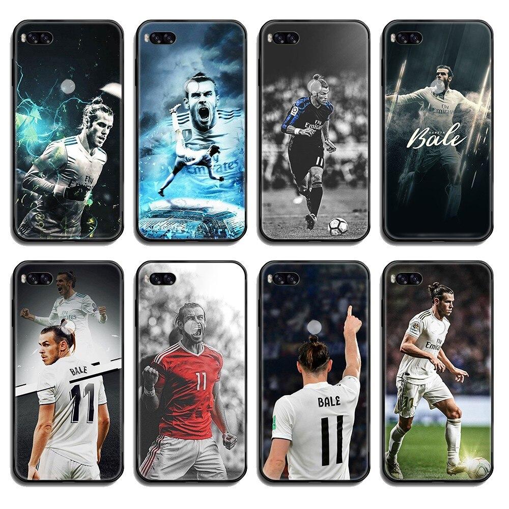 Wales fútbol atleta Gareth Bale cubierta celular negro Funda de teléfono para Xiaomi Redmi nota 3 5 6 8 9 A1 2 Max3 Mix2 X SE Lite Pro