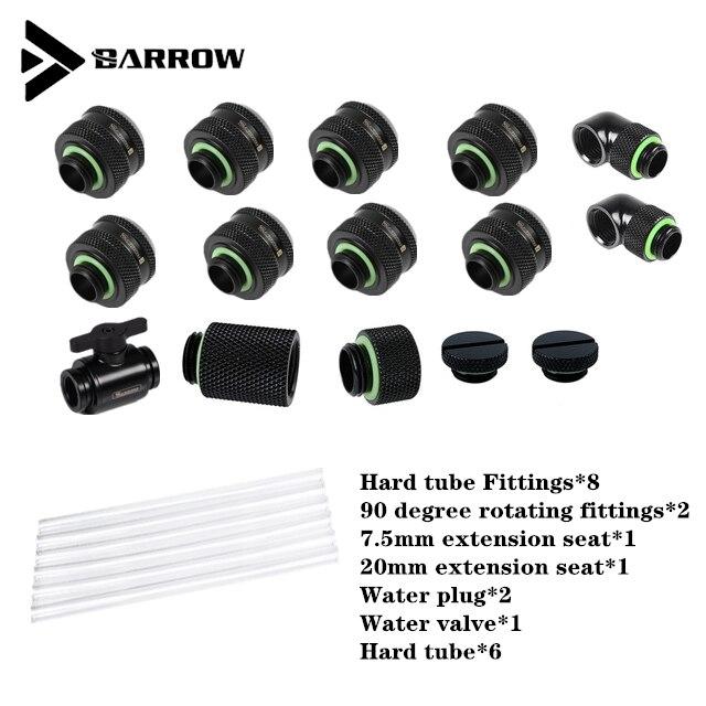 Barrow-تركيبة أنبوب صلب AIO PC ، مجموعة تبريد مياه ، كمبيوتر مع تركيبات ، طقم حلقة سائلة ، أسود ، فضي ، أبيض ، ذهبي