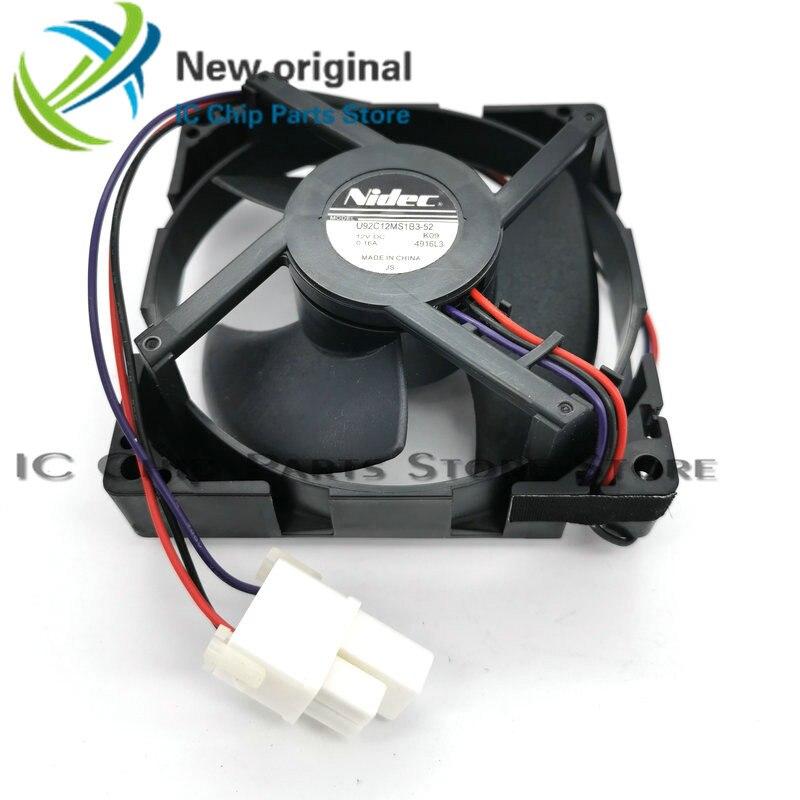شحن مجاني جديد الأصلي ل nidec 9 سنتيمتر U92C12MS1B3-52 12 فولت 0.16A ل المبردة مروحة التبريد hzdo