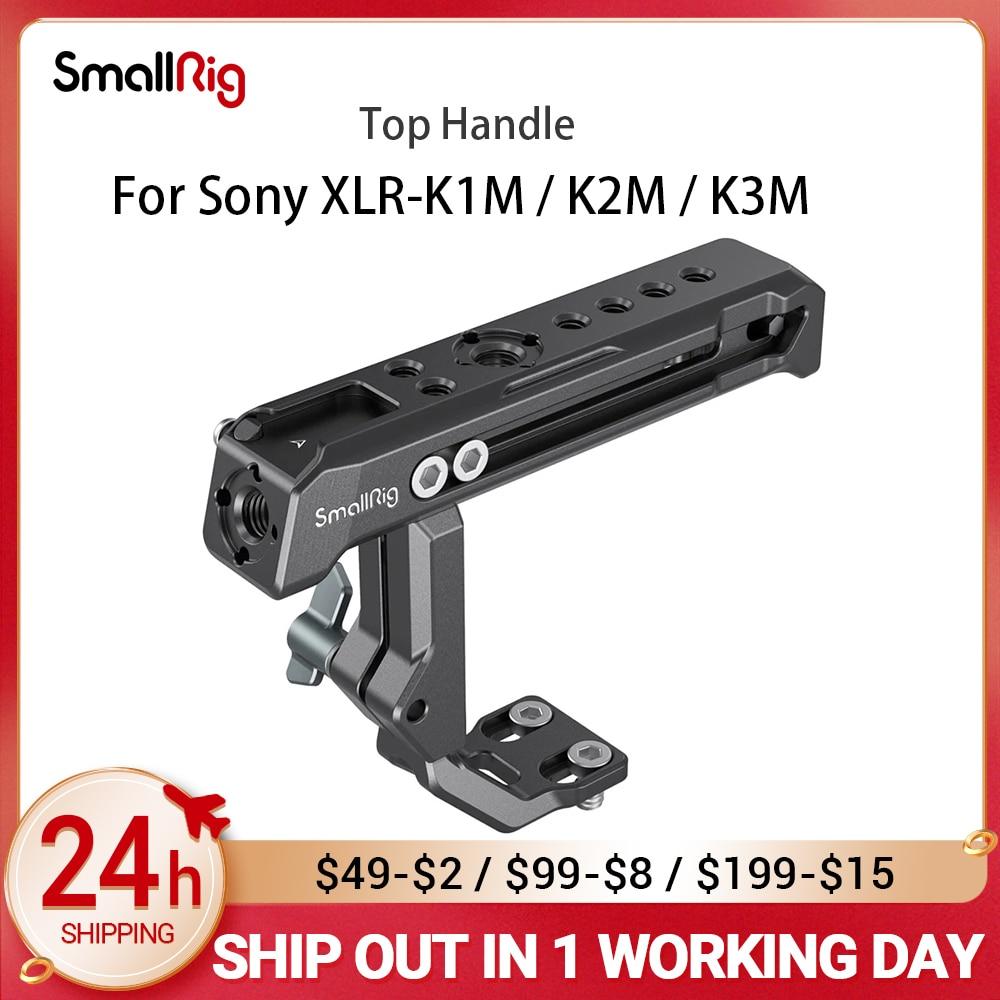 SmallRig Camera Cage Top Handle for Sony XLR-K1M / K2M / K3M and Panasonic DMW-XLR1 Adapter 3082