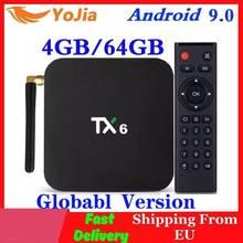 TX6 Smart TV Box Android 9.0 Allwinner H6 4GB RAM 64GB ROM 32G 4K 2.4G/5GHz double WiFi 2G16G Mini lecteur multimédia
