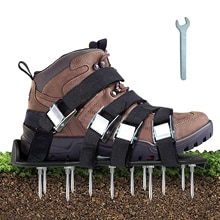 Lawn Aerator Spikes Shoes Aerator Spiked Sandals with 5 Adjustable Straps Universal Size for all Sho