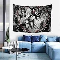 ffo anime tomie junji ito wall hanging tapestry aesthetic curtain japanese kago manga horror harajuku tapestries home decor