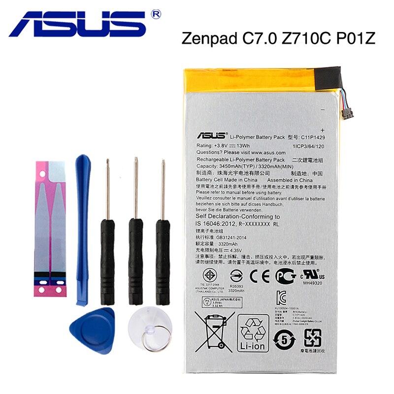 Original ASUS C11P1429 Tablet PC para batería de ASUS Z710 Zenpad C7.0 Z710C P01Z Z170MG Z710CG C11P1429 3450mAh
