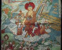 Colección Antigua China el diagrama de Buda bordado Thangka