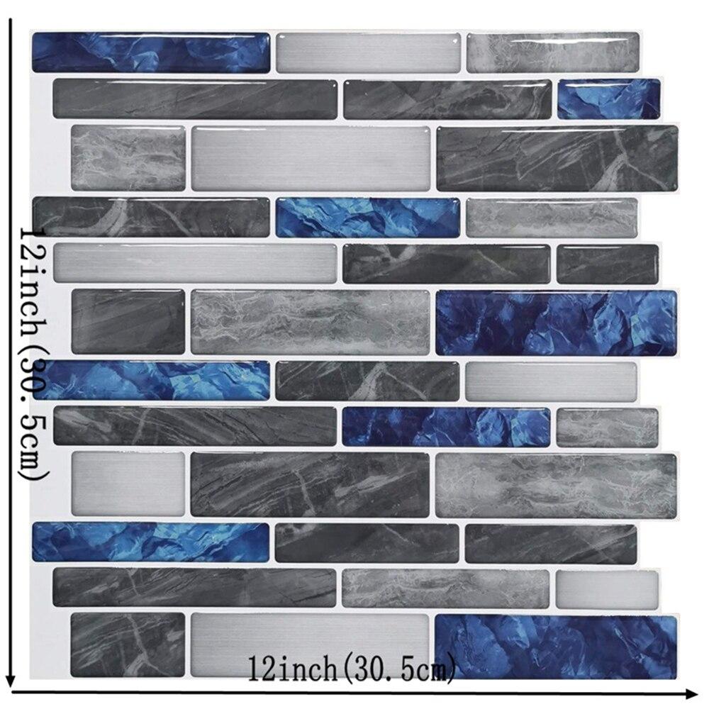 30,5*30,5 cm, azulejo adhesivo impermeable, arte de pared, hogar DIY, Cocina, Bar, Mural, azulejo para decoración rápida DIY