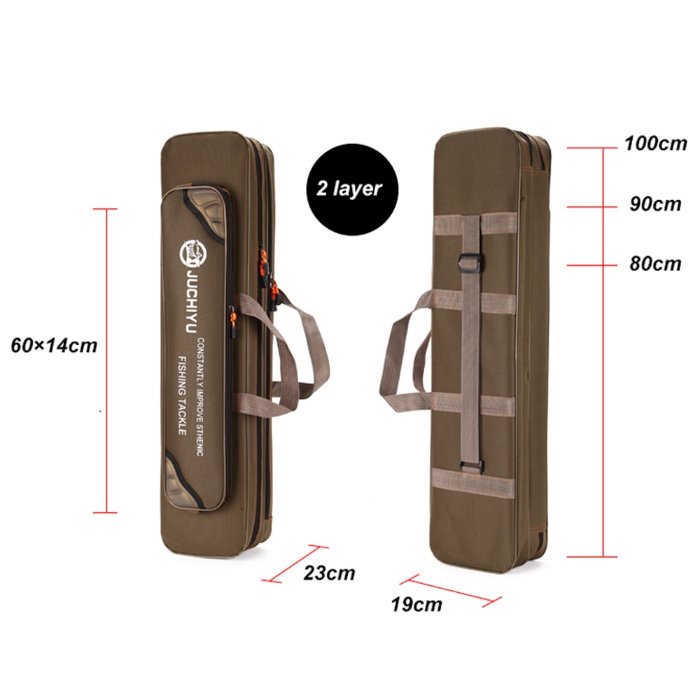 1.2m Folding Fishing Rod Bag Carrier Canvas Fish Pole Storage Shoulder Bags Case Fish Gear Tackle Pesca Iscas Tools  X357G enlarge
