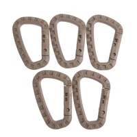 5pcs hotoutdoor tactical backpack buckle fast tactical carabiner plastic hook d shape gear for camping