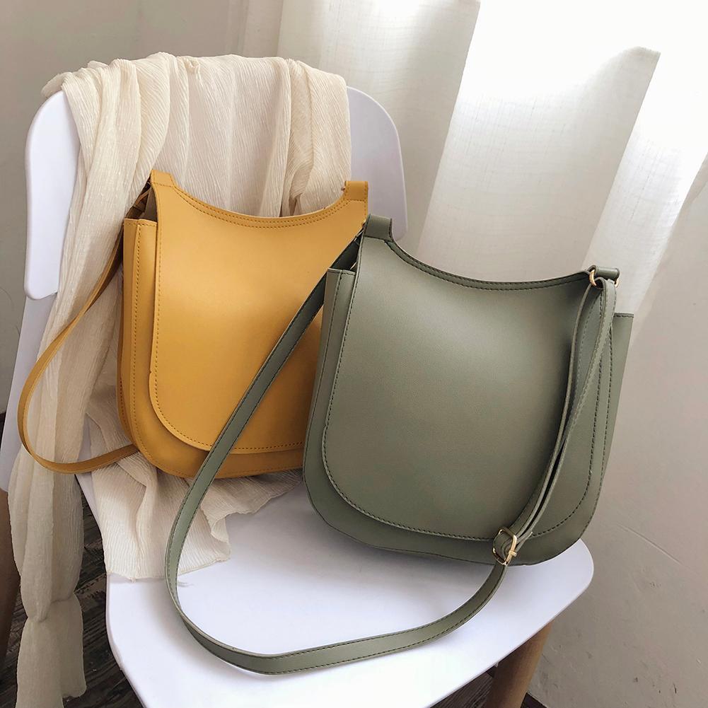 Модная широкая однотонная сумка на плечо для женщин, 2021, мягкая сумка из искусственной кожи, вместительные сумки-тоуты, женские сумки через плечо с клапаном
