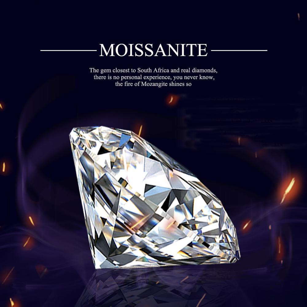 Szjinao 1.0ct 6.5 مللي متر D اللون VVS1 الجولة فضفاض الأحجار الكريمة مويسانيت الأحجار مختبر نمت الماس مع GRA شهادة جوهرة بالجملة