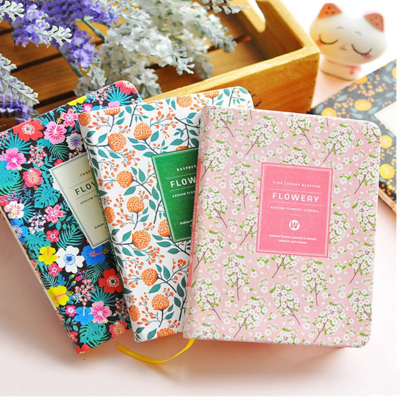 PU Leather Floral Flower Schedule Book New Arrival Cute Diary Weekly Planner Notebook School Office Supplies Kawaii Stationery new products on the shelves lovely flowers schedule diary weekly plan notebook school office supplies lovely stationery