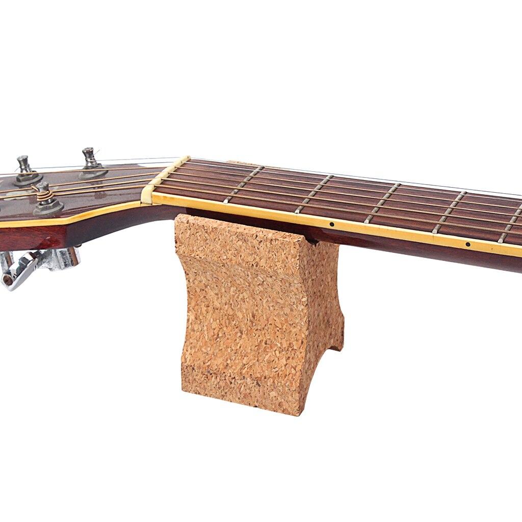 Guitarra pescoço resto suporte titular cortiça pescoço resto travesseiro luthier ferramenta de reparo para guitarra baixo banjo instrumento corda