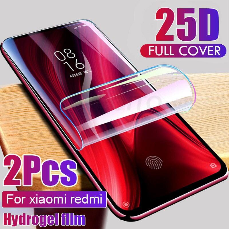 2 шт. защита для экрана Гидрогелевая пленка для Xiaomi Redmi note 7 8 5 pro Защитная пленка для Redmi note 9S 9 4X 7A K20 pro Not Glass
