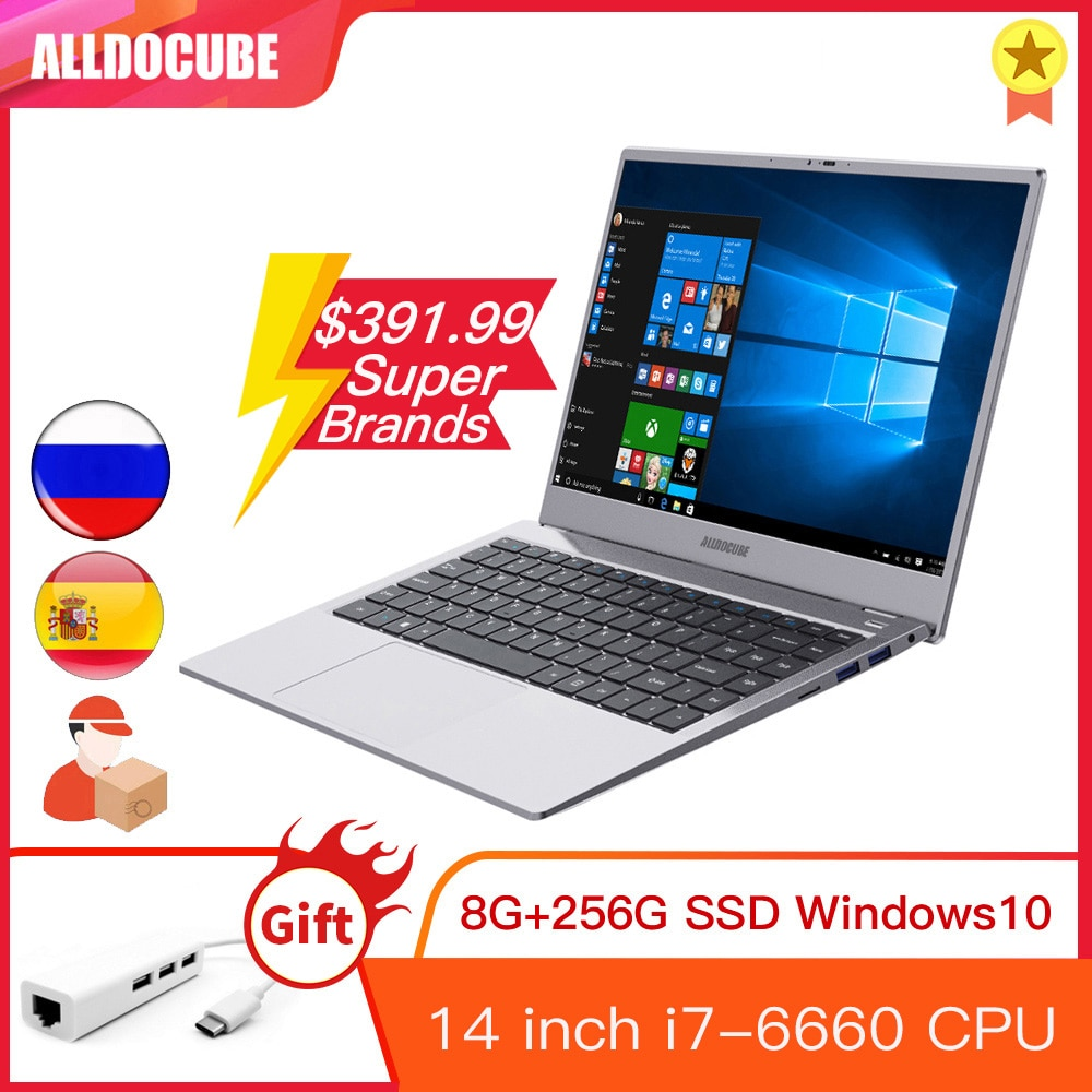 Promo Alldocube i7Book  14 inch IPS Intel i7 6660U Windows 10  8GB RAM 256GB ROM SSD  Notebook laptop computer WIN10 PC