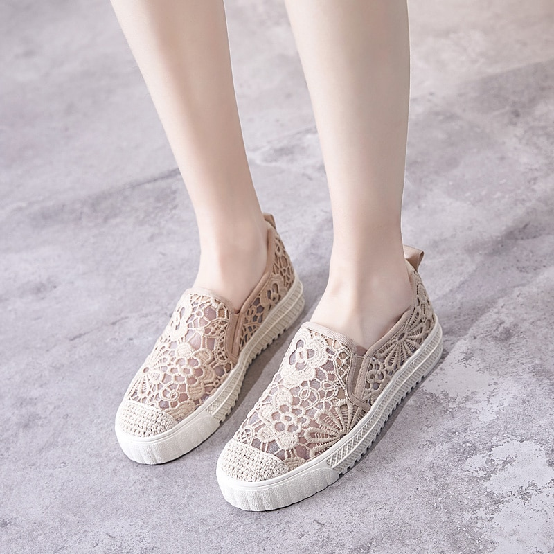 Shoes woman summer 2021,Black Shoes for Women,Mixed,Gothic,Casual,Woven,Comfort,Breathable,Lace,Rubb